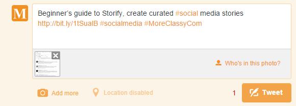 Tweet created using custom hashtag for GroupTweet