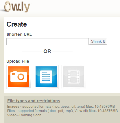 Upload images and files in Ow.ly