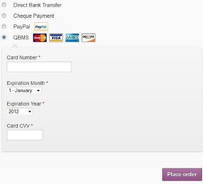 WooCommerce Plugin To Add QuickBooks Intuit Payment Gateway