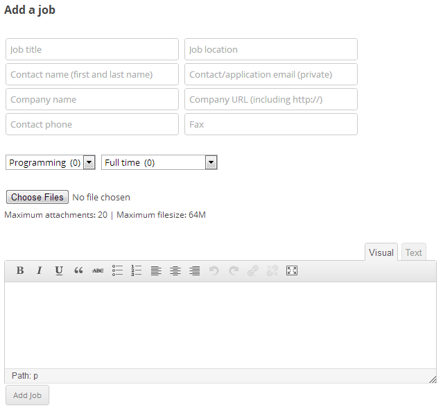 Best WordPress Plugin To Turn Blog In To Job Posting Site