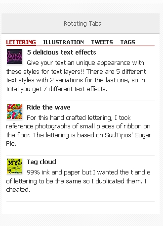 Best Automatic Rotating Tabs Sidebar Widget For WordPress