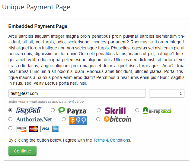 How to Add Custom Ajax CSS3 Payment Page in WordPress