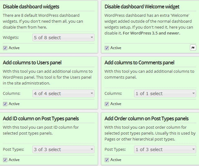 Customize WordPress Dashboard And Change Default Settings