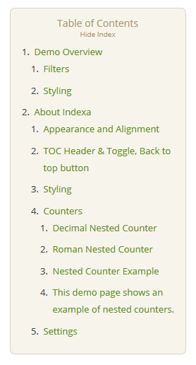 Create Index, Table Of Contents For Posts In WordPress Blog