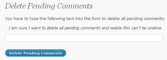 How To Delete Pending Comments In Bulk In WordPress