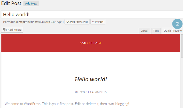 Preview changes directly from post, page editor in WordPress