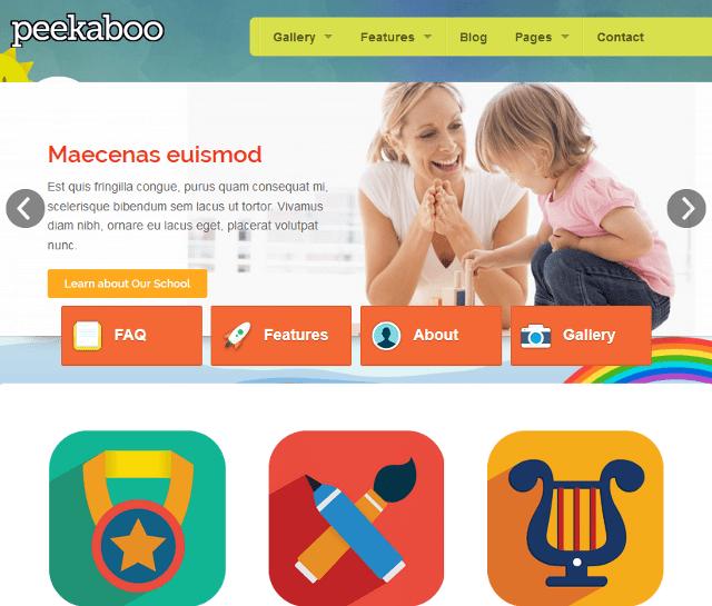 Responsive School WordPress Theme For Kids Daycare Centers