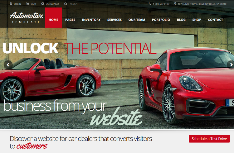 Automotive Car Dealership WordPress Theme