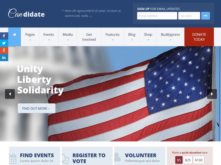 Candidate WP WordPress Theme