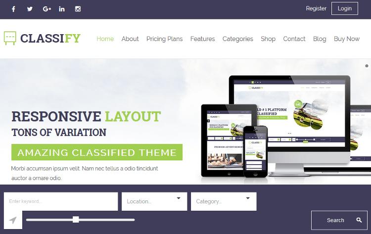 Classify WordPress Theme
