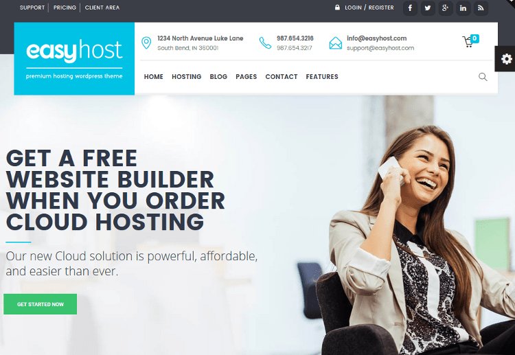 EasyWeb WordPress Theme