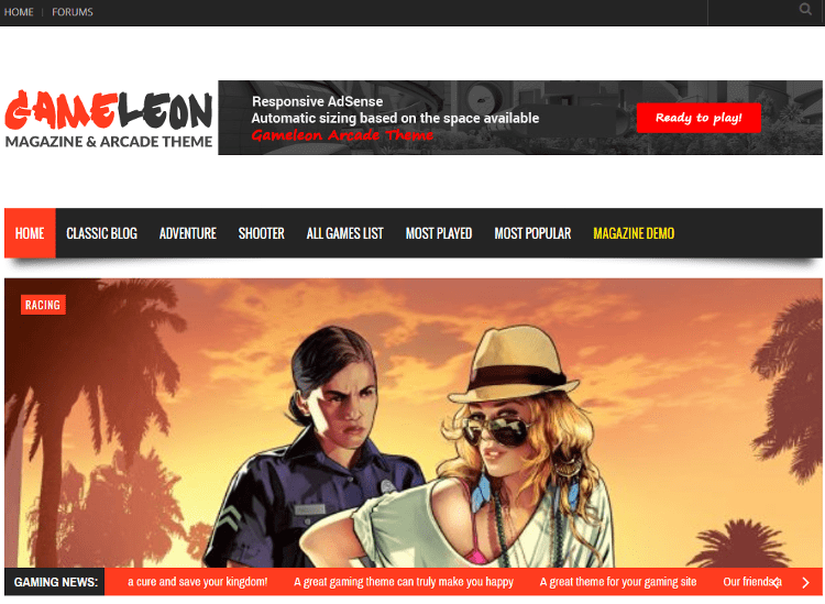 Gameleon WordPress Theme