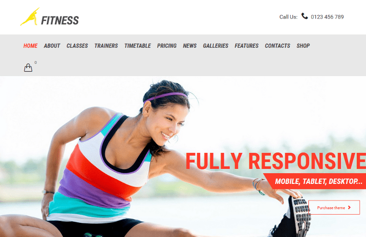 Gym & Fit WordPress Theme
