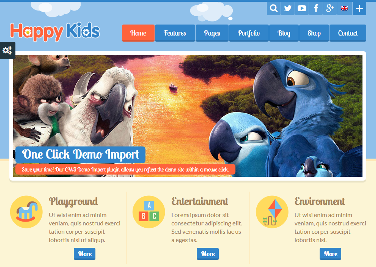 Happy Kids WordPress Theme