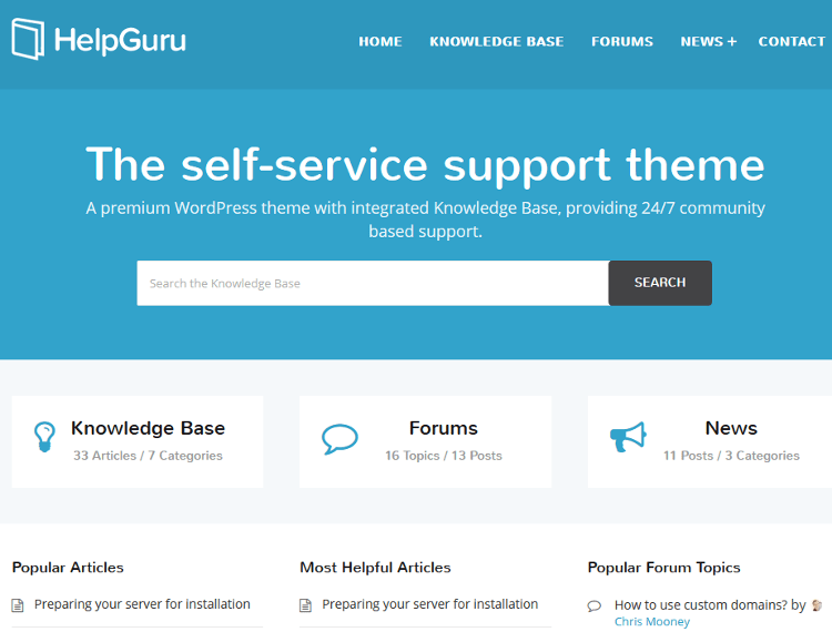 HelpGuru WordPress Theme