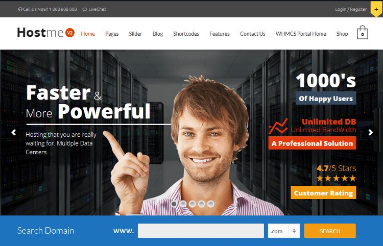 Hostme WordPress Theme