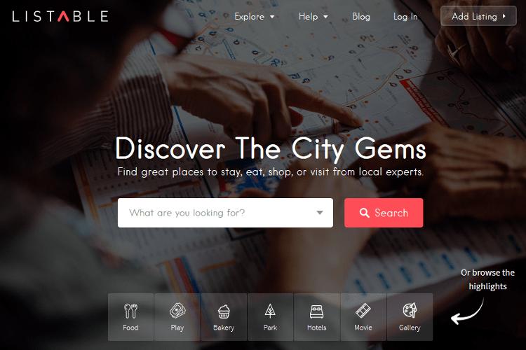 LISTABLE WordPress Theme