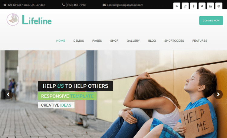 Lifeline WordPress Theme