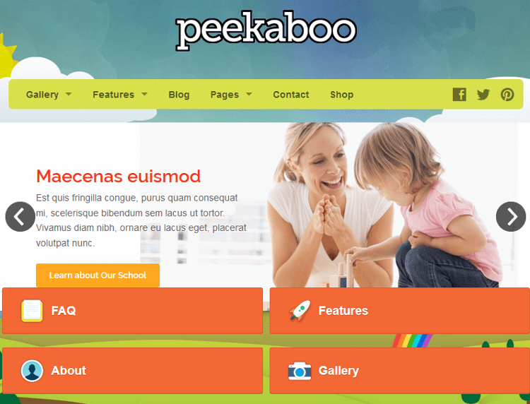 Pekaboo WordPress Theme