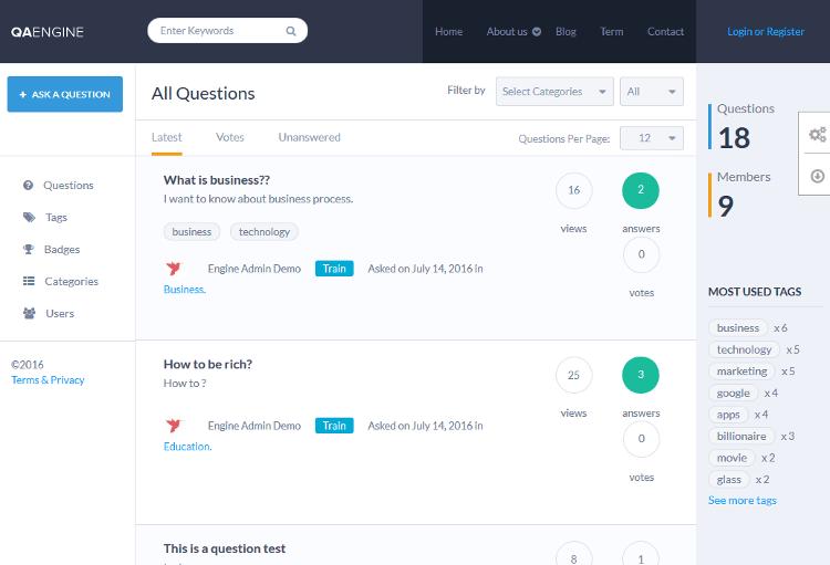 QAEngine WordPress Theme