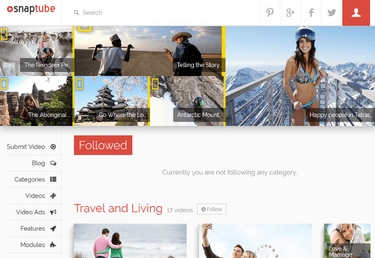 Snaptube WordPress Theme