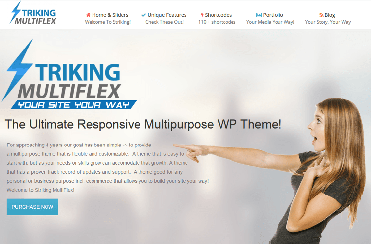 Striking WordPress Theme: