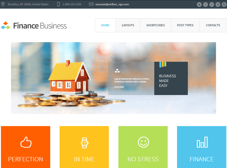 Finance Business WordPress Theme