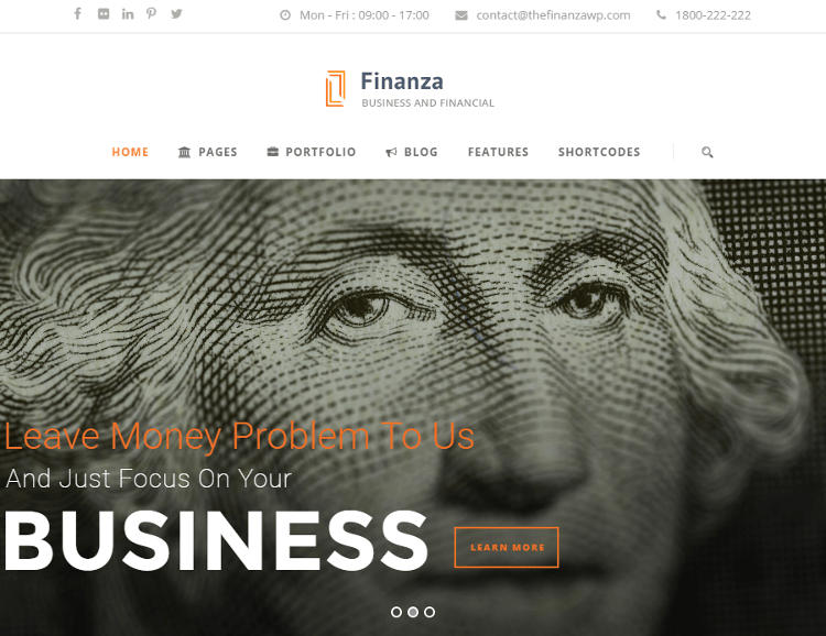 Finanza WordPress Theme