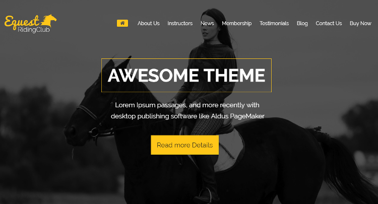 The Equestrian Pro WordPress Theme