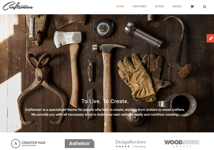 Craftsman WordPress Theme