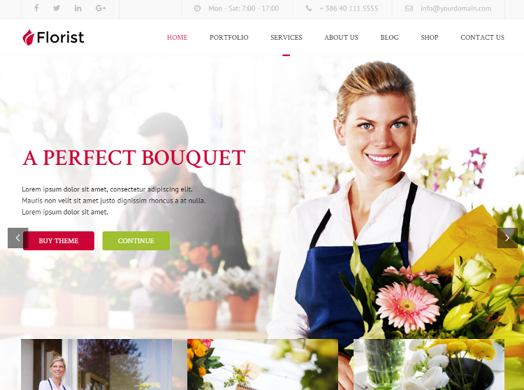 Florist WordPress Theme