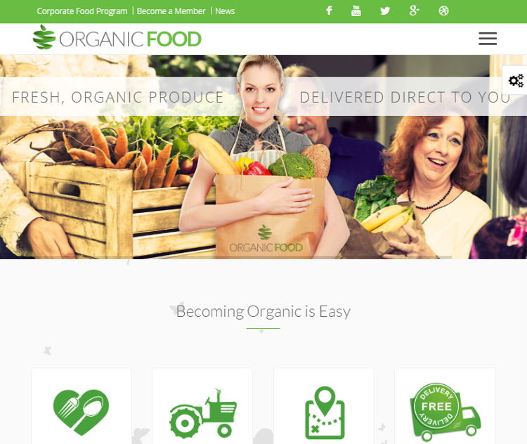 Organic Food WordPress Theme