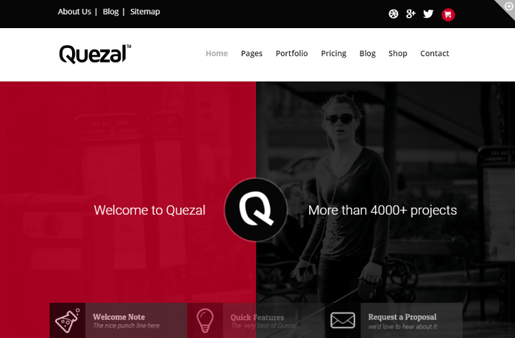 Quezal WordPress Theme