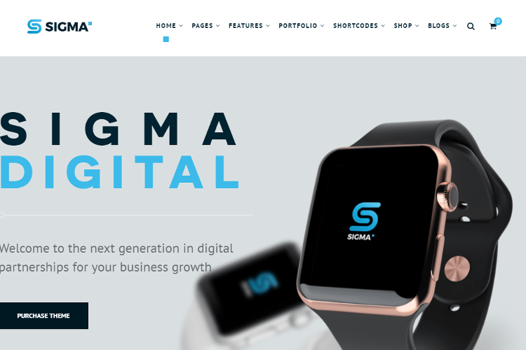 SIGMA WordPress Theme