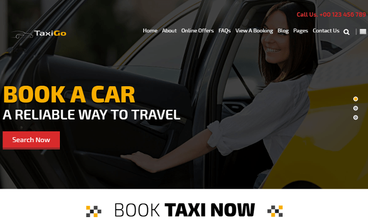 TaxiGo WordPress Theme