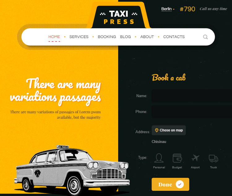 TaxiPress WordPress Theme
