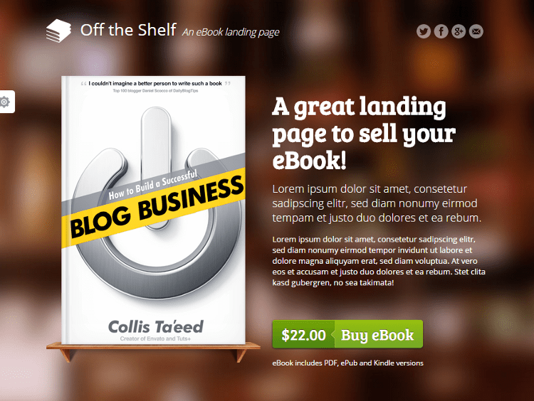 Off the Shelf Landing Page Template