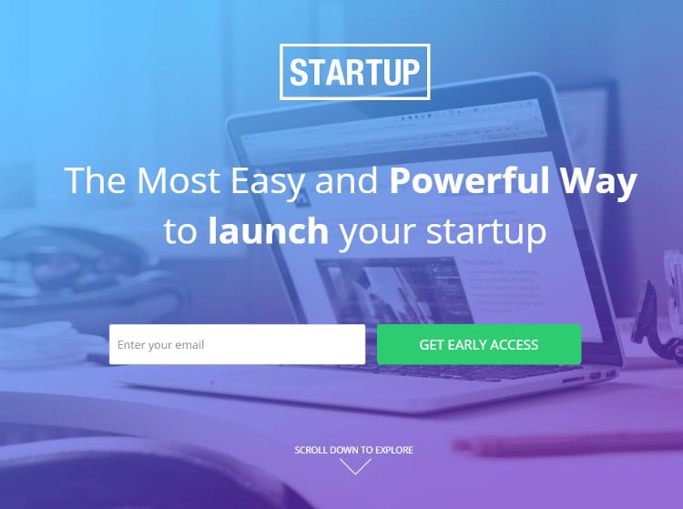 Startups Instapage Landing Page Templates