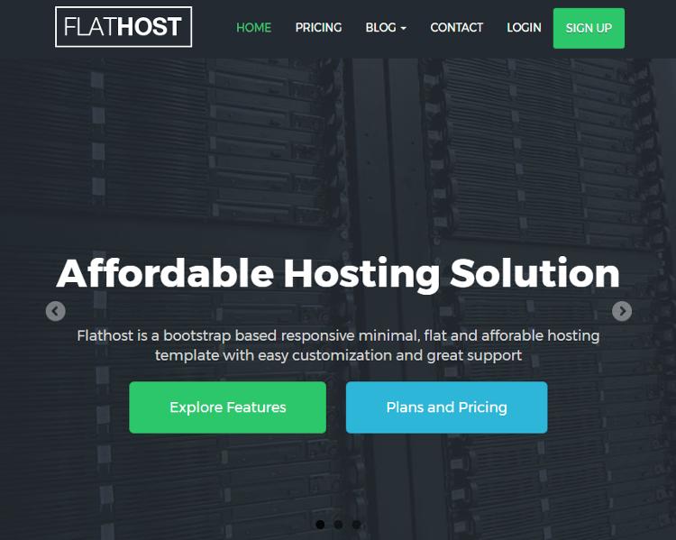 FlatHost HTML5 Template