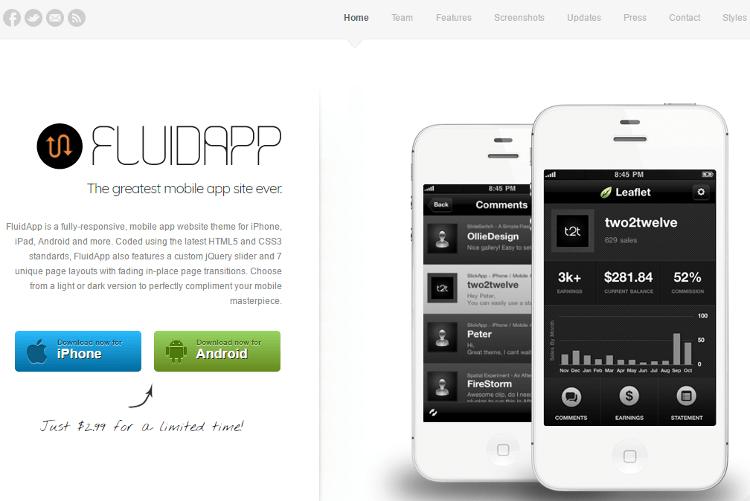 FluidApp HTML5 Template