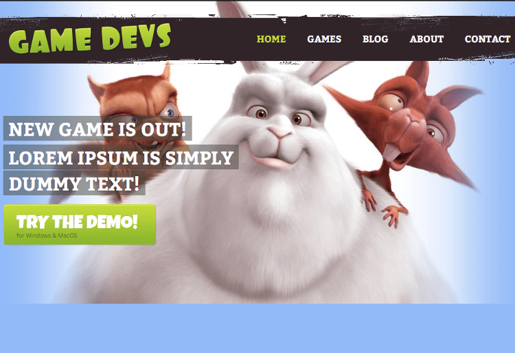 Game Devs HTML5 Template