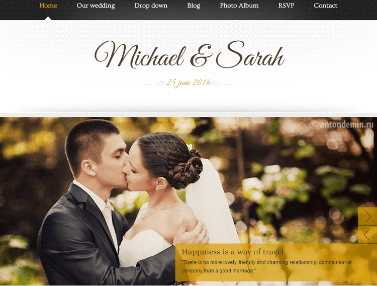 Marriage HTML5 Template