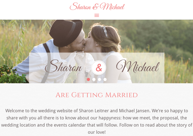 Wedding Bliss HTML5 Template