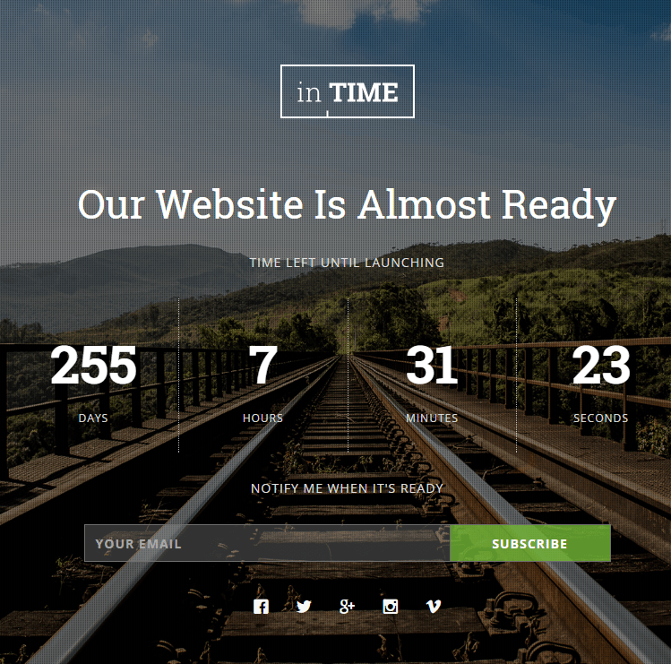 inTime HTML5 Template