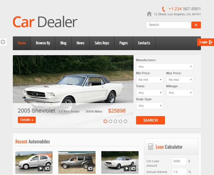 Car Dealer HTML5 Template
