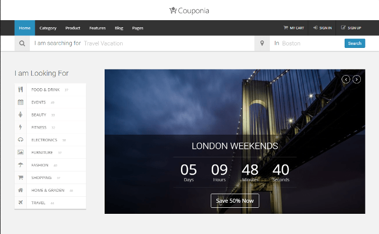 Couponia HTML5 Template