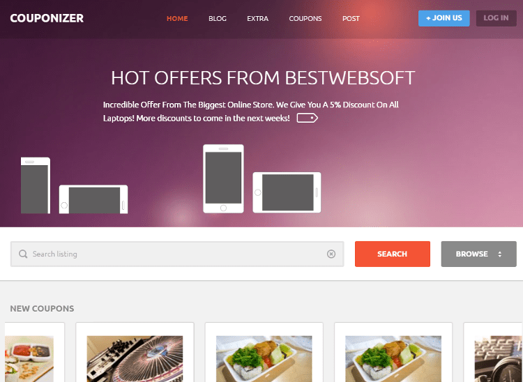Couponize HTML5 Template