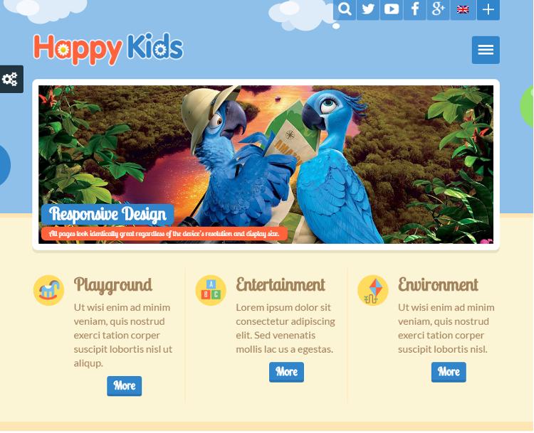 Happy Kids HTML5 Template