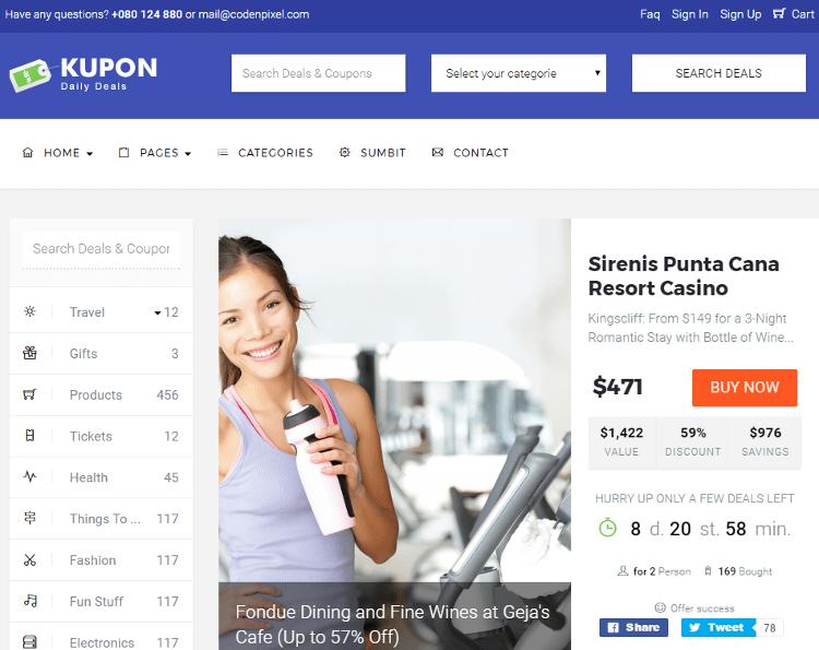 KUPON Deals HTML5 Template