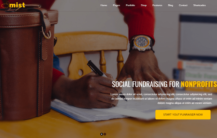 Mist Charity HTML5 Template